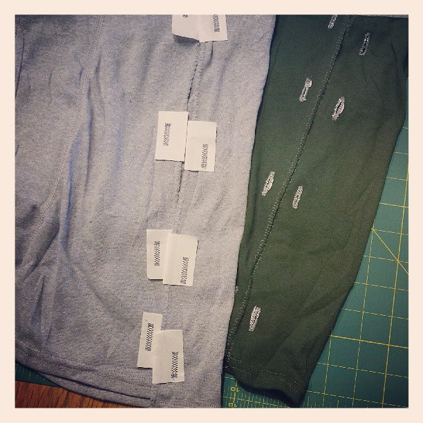 Alterations complete ~ wash away foundation paper to be able to make buttonholes in knit