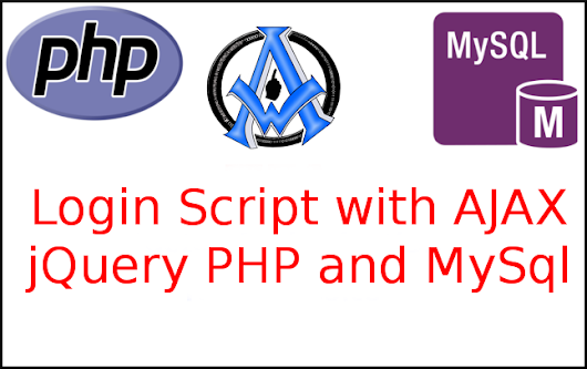 Login Script with AJAX jQuery PHP and MySql VIDEO AND SCRIPTS HERE