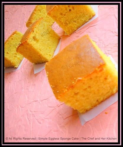 Chef And Her Kitchen Eggless Sponge Cake