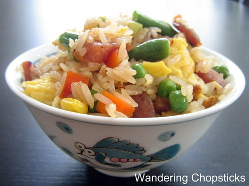Fried Rice with Chinese Sausage, Frozen Mixed Vegetables, and Eggs 1