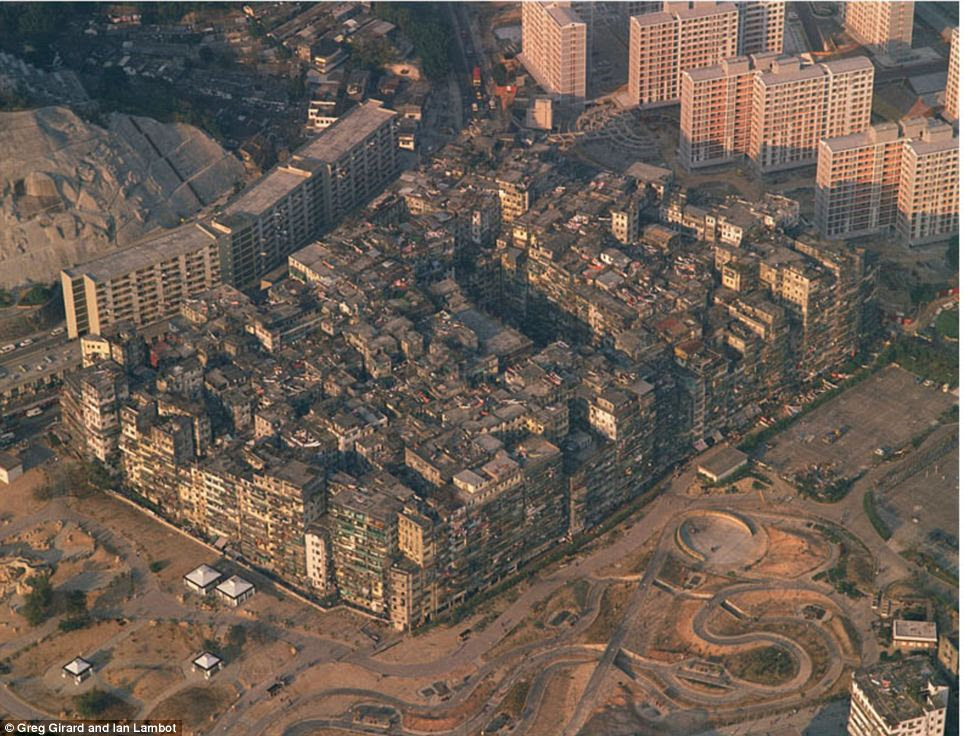 Image result for kowloon walled city before after