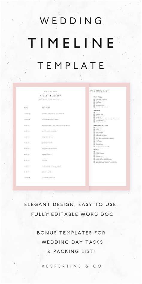 The 25  best Wedding timeline template ideas on Pinterest