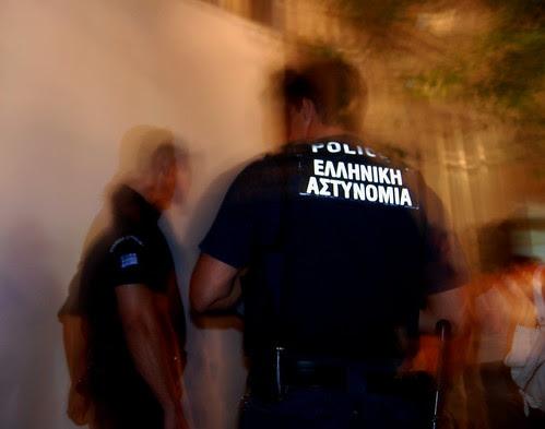 Greek police raze refugee camp to the ground.