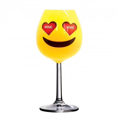 Xl Emoji Wine Glass Gaggiftscom