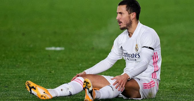 Reports reveals Real Madrid winger Eden Hazard suffers from adductor injury, not ankle