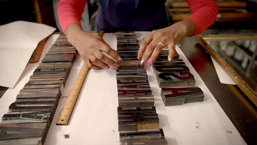 Feeling the words with letterpress prints, Episode 1, Series 1, MAKE! Craft Britain - BBC Four