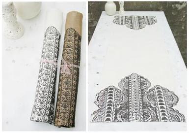 linen fabric napkins printed