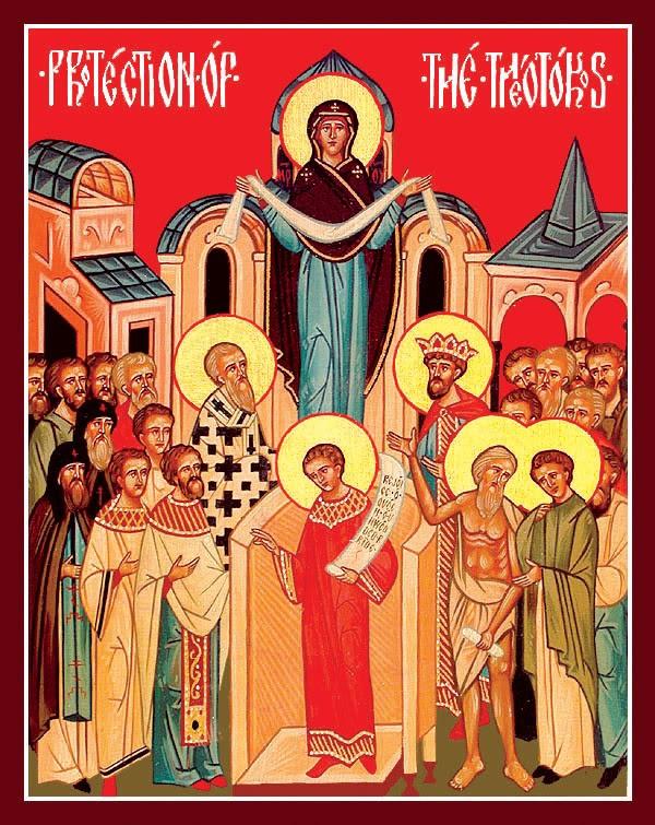 Protection de la Mere de Dieu, icone contemporaine anglophone