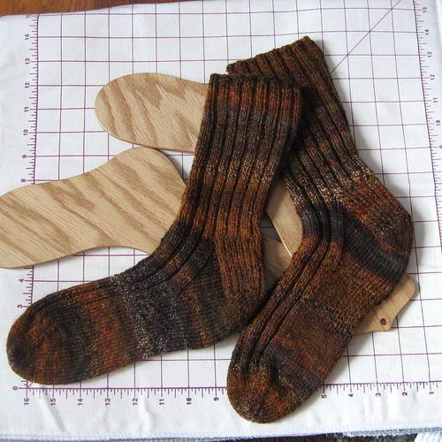 handspun socks for Alex