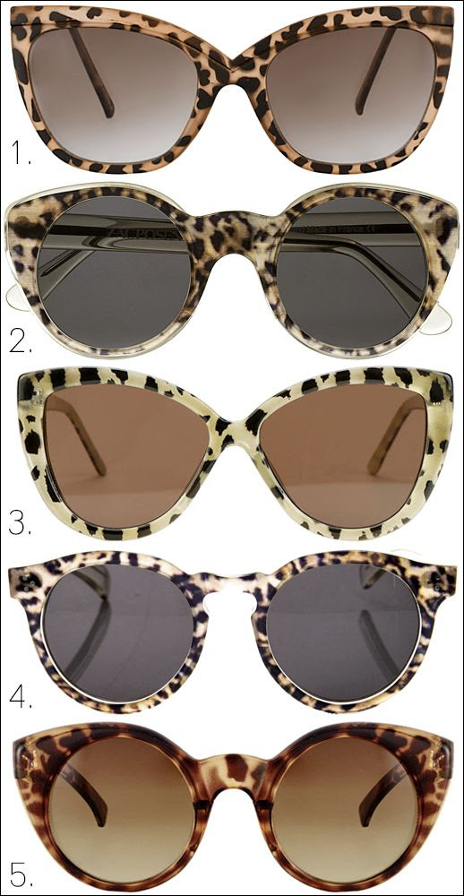 LE FASHION BLOG LEOPARD PRINT SUNGLASSES TOP 5 PICKS ASOS Ridge Detail Cat Eye Sunglasses Illesteva Zac Posen Cat Eye Acetate Sunglasses Urban Outfitters Pearl Leopard Cat Eye Sunglasses Illesteva Leonard sunglasses ASOS Kitten Cat Eye Sunglasses