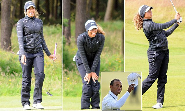 Tiger Woods' niece Cheyenne practices ahead of Ladies Scottish Open
