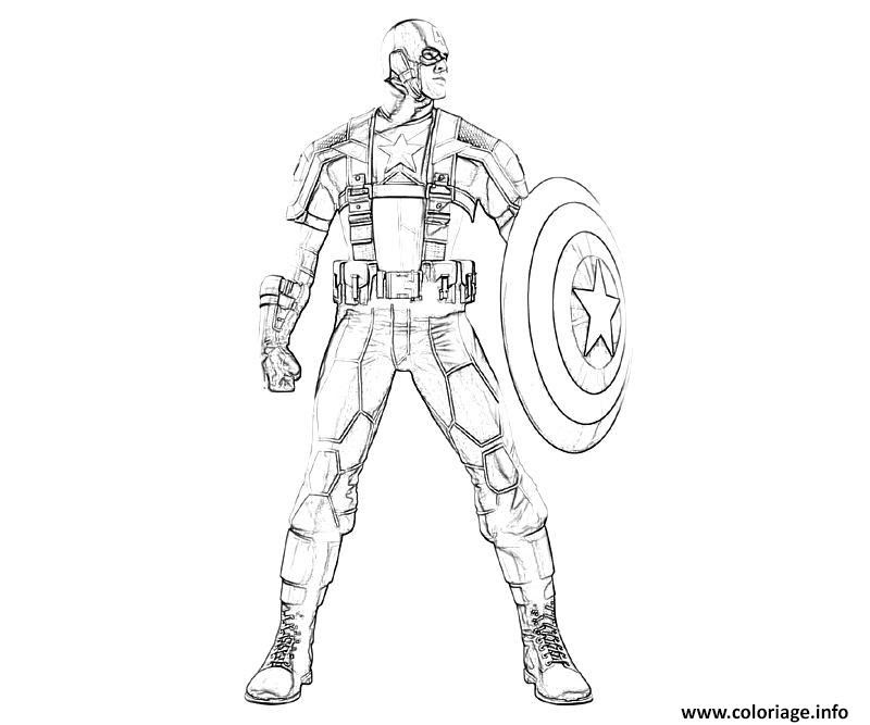 Coloriage Colorier Captain America 95 Jecoloriecom