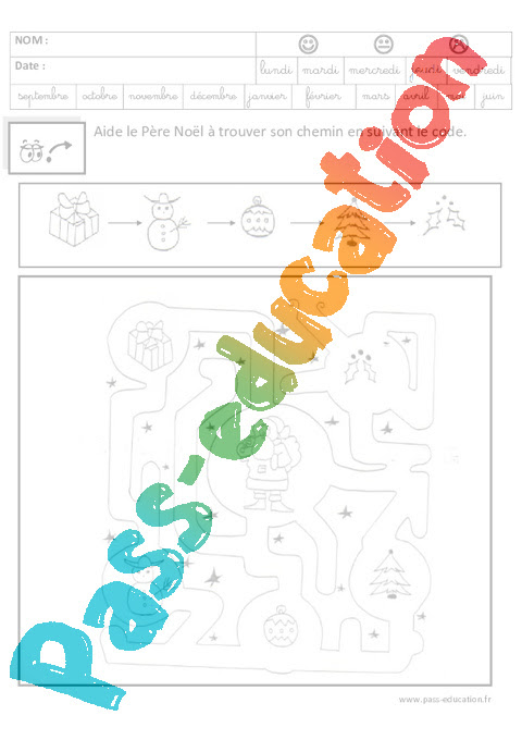 Coloriage Codé Noël Maternelle Grande Section Gs Cycle 2