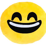 Altatac Home Decor Throw and Travel Pillow, Grinning Face w/ Smiling Eyes