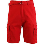 Mens Cotton Belted Cargo Shorts
