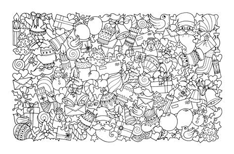 printable full page christmas coloring pages for adults