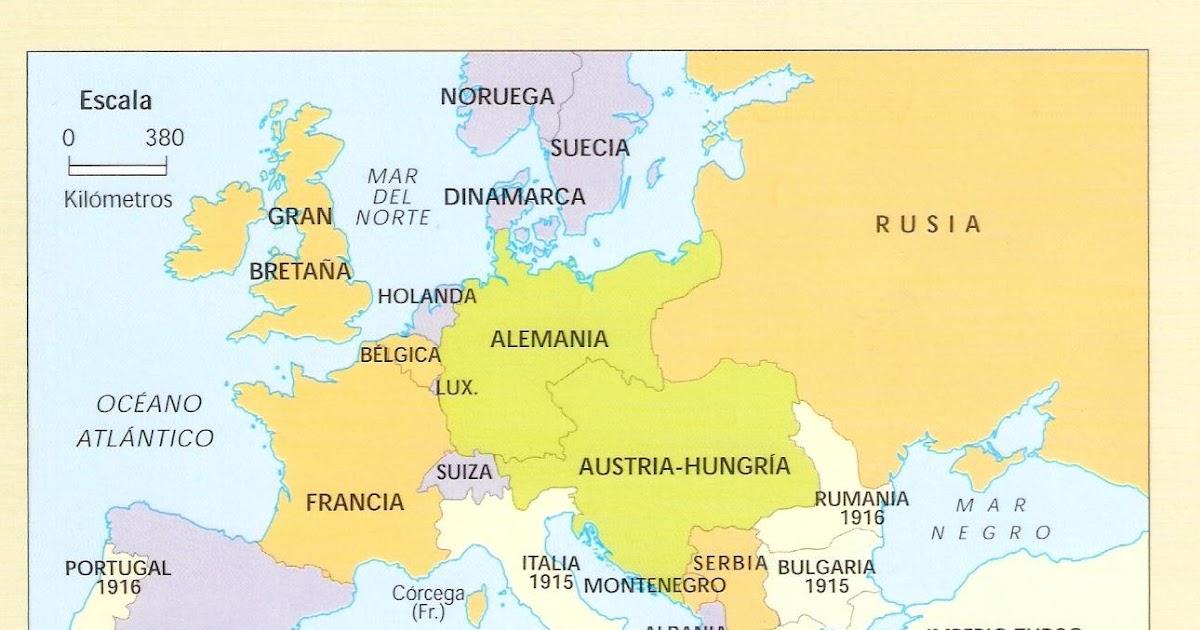 teoblog CAMBIOS EN EL MAPA DE EUROPA 1914 Y 1919
