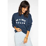 Sub_Urban Riot | Be A Nice Human Willow Sweatshirt | Navy