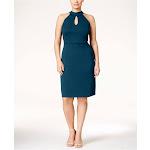Love Squared Plus Size Halter Cutout A-Line Dress - Blue 3X