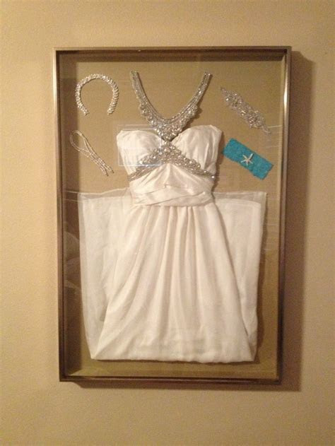 Display your wedding dress and accessories in a shadow box
