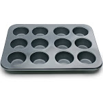 Fox Run 12-Cup mini-Muffin Stainless Steel Baking Pans