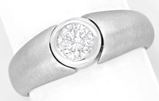 Originalfoto BRILLANTRING 0,56ct LUPENREIN TOP-WESSELTON, 18K LUXUS!