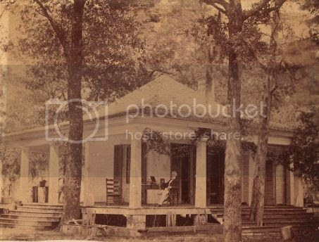 Jefferson Davis at Sarah Dorsey's home