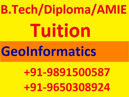 B.Tech Civil Engineering Subjects Tuition For Geoinformatics In Noida