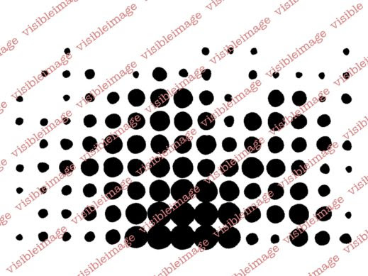 0 Visible Image Retro Dots stamp
