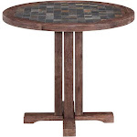 Home Styles Morocco Round Dining Table, Brown