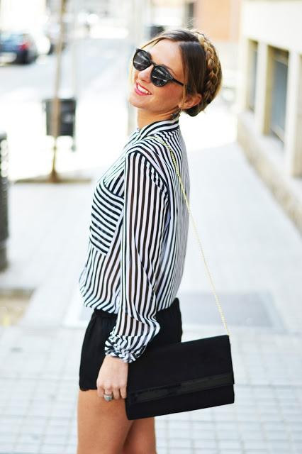 Striped in Black