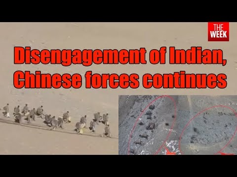 Indian Army Releases Footage of Pullback By China At Pangong Tso
