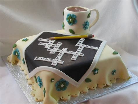 Crossword Puzzle cake   Cakewalk Catering