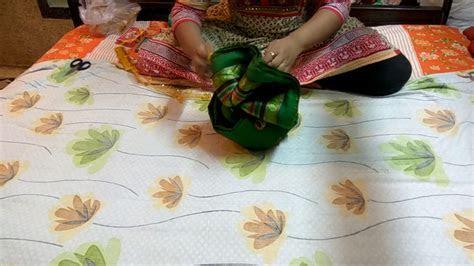 How to make Pagdi using a saree,Wedding Tray Decoration