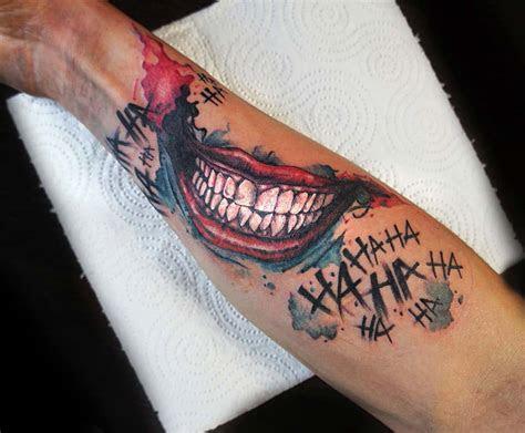 joker smile tattoo arm tattoo ideas