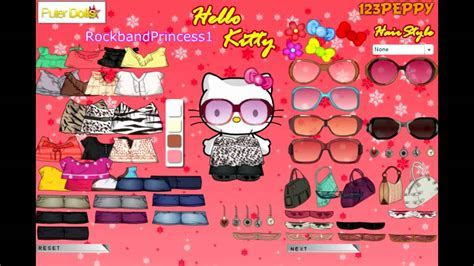 Hello Kitty Online Games Hello Kitty Dress Up Game   YouTube