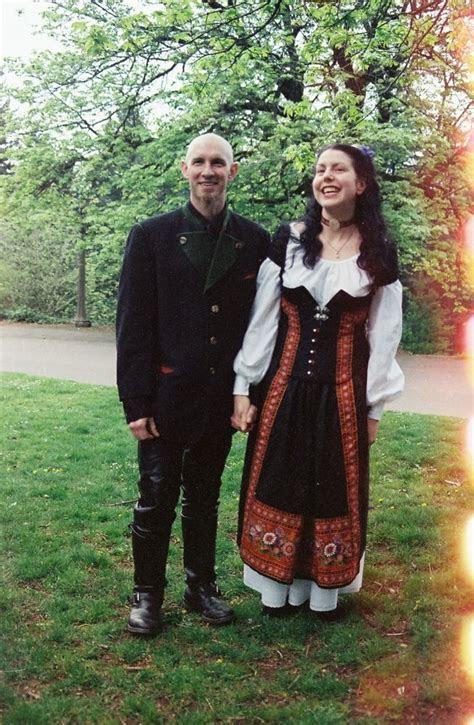 Modern yet Traditional Norwegian wedding dress by Owl