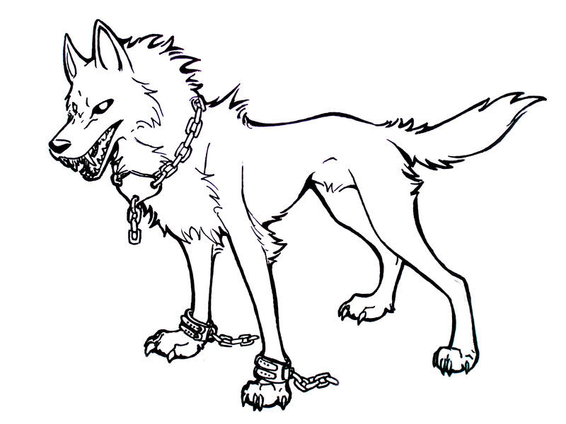 Demon Wolf Coloring Coloring Coloring Pages