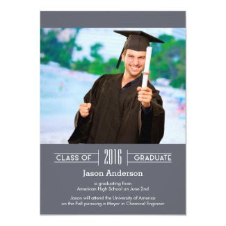 Classy Graduation Photo Announcement