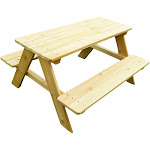 Rectangle Wooden Kids Picnic Table - Merry Products