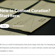 Accessing Curated Content – Experimenting with Rise