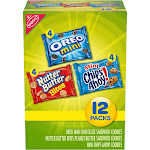 Nabisco Snack Pack Variety Mini Cookies Mix With Oreo Mini, Mini Chips Ahoy! & Nutter Butter Bites - 12oz / 12ct