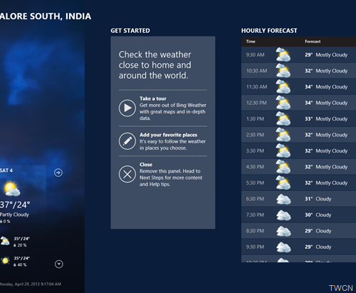 Bingweather02 Bing Weather App for Windows 8 updated