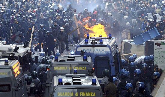 Presidente italiano expresa su preocupación por el estallido de protestas violentas