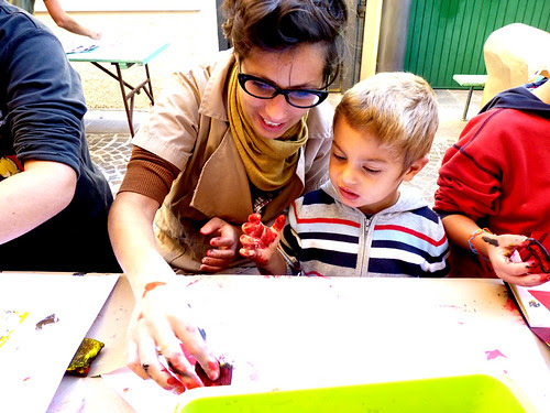 Printing Workshop with kids! by la casa a pois