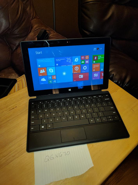Microsoft Surface RT (Wi-Fi) For Sale - $105 on Swappa (QGN670)