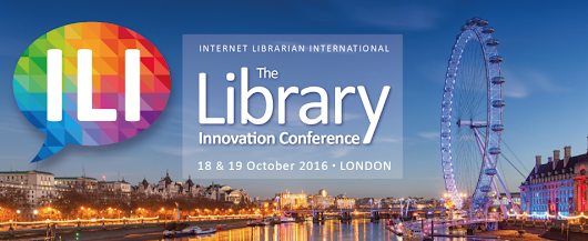 Upcoming presentations: The #ILI2016 program is out and I am one of the Keynote speakers.