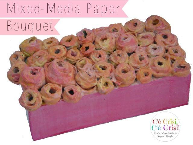 mixed media paper bouquet 2