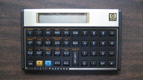 Hewlett Packard 12C Financial Calculator
