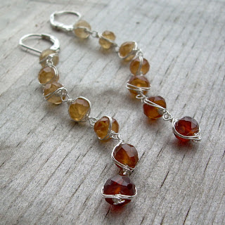 dangly gemstone earrings